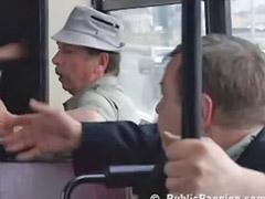 Tembak mani dalam, Didalam bus umum