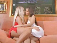 Scene lesbian, Lesbians scene, Lesbian scene, Blond and brunette, Lesbians blonde, Blonde lesbians