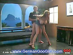 Threesome, German, Busty