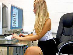 Office, Blonde, Hot, Officer