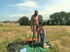 Grandpa, Outdoor, Grandpa fucks, Grandpas, Helps, Fuck babe